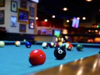 Pool table setup in Santa Barbara, California